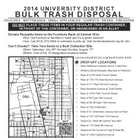 2014 University District Trash Disposal