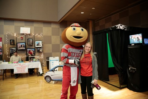 Brutus and Abbey at the Housing Fair