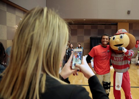 Brutus and Lawrence at the Housing Fair