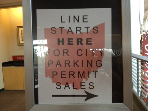 City parking permit sale