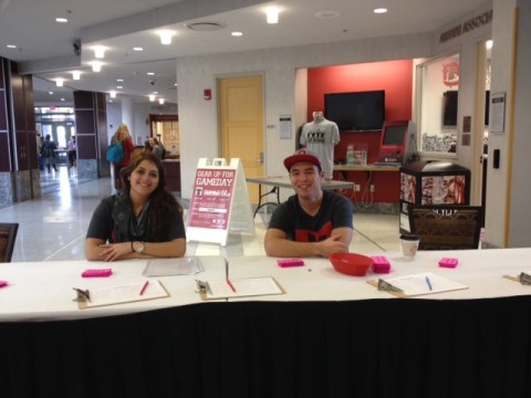 Casey and Dylan at the 2013 Off-Campus Housing Fair!