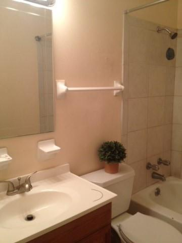 Full bathroom  - marble tiled and ceramic tiled. View 3