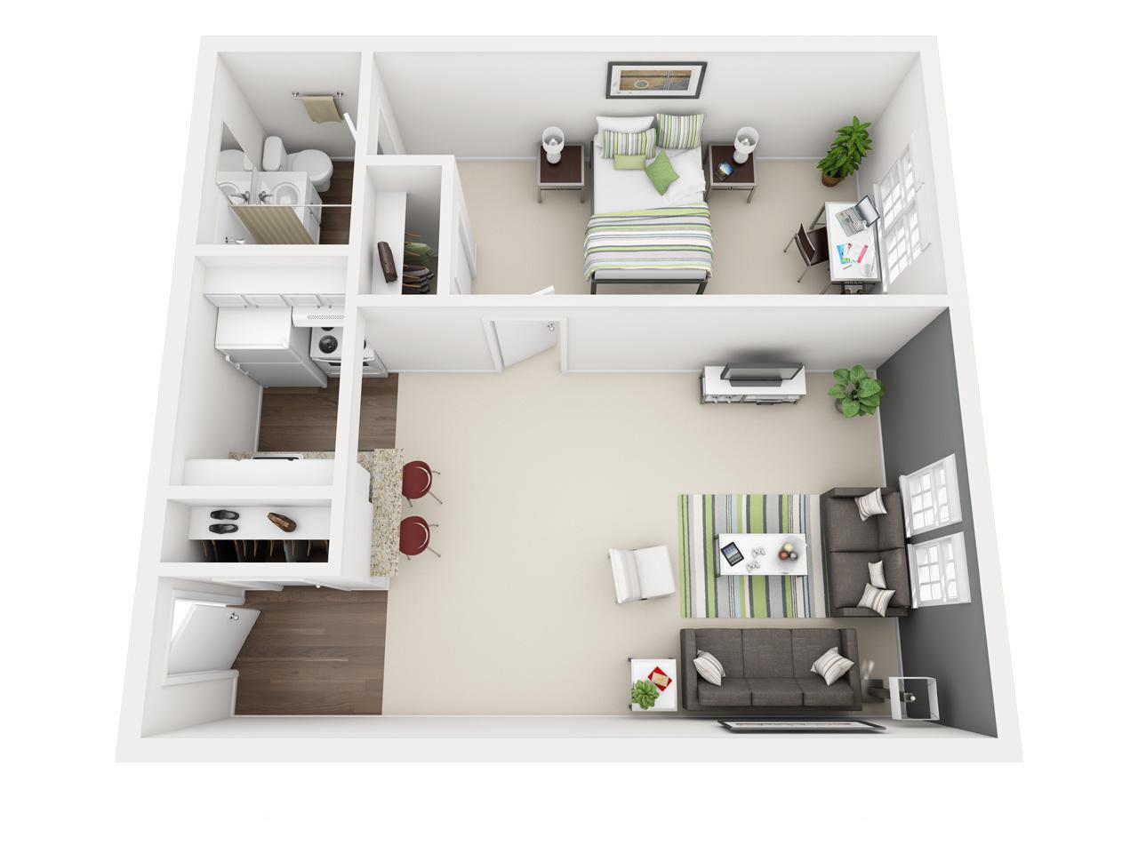 2981 Olentangy River Road Furnished 1 Bedroom The Oliver